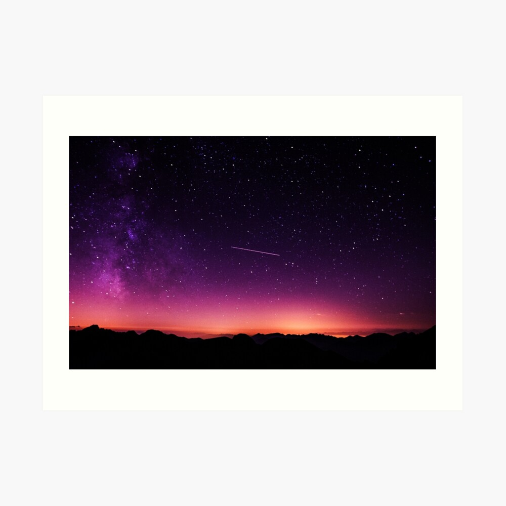 Für die Sterne schießen Kunstdruck