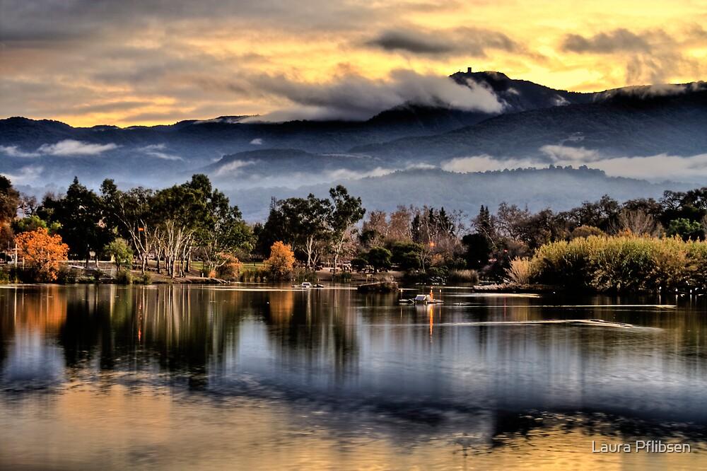 Sunet at Lake Almaden by Laura Pflibsen