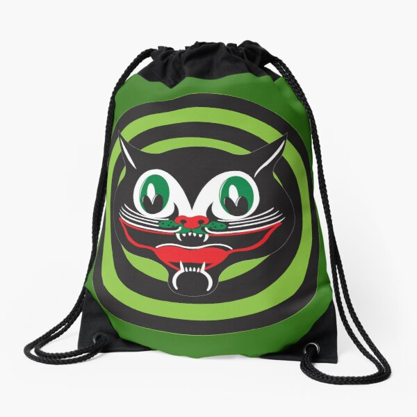 Happy Cat Drawstring Bag