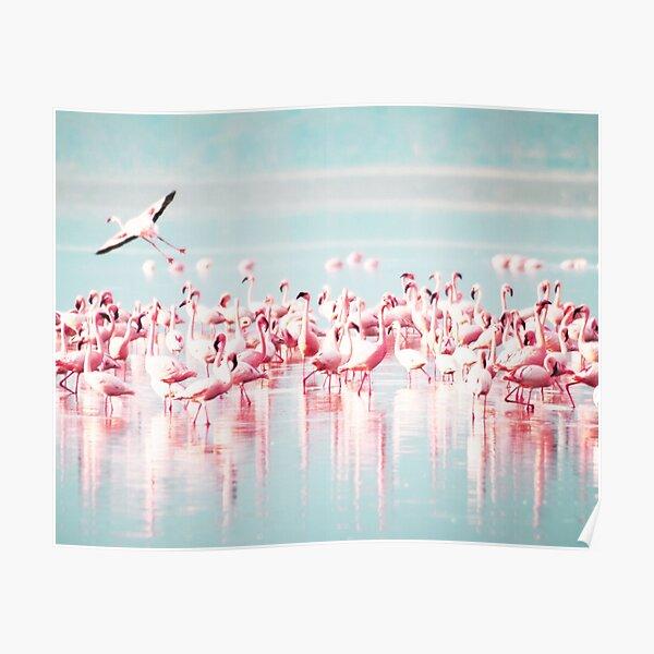 Flamingo, Flamingos print, Sea, Ocean, Modern art, Wall art, Print, Minimalistic, Modern Poster
