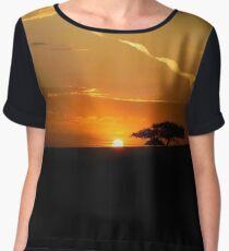 African Safari Sunset Chiffon Top