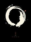 Black Ensō / Japanese Zen Circle by Thoth Adan