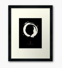 Black Ensō / Japanese Zen Circle Gerahmtes Wandbild
