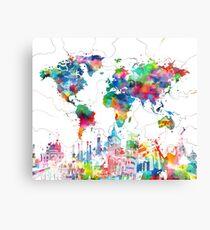 World Map Canvas Prints | Redbubble