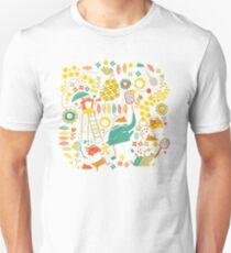 tennis on teal Unisex T-Shirt