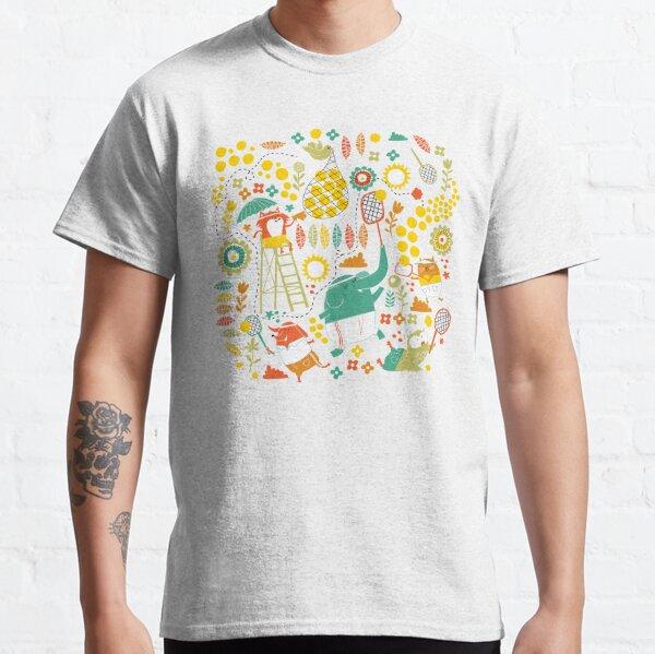 tennis sur sarcelle T-shirt classique