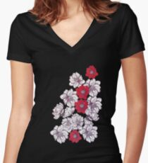 Monday Morning in The Garden Women's Fitted V-Neck T-Shirt