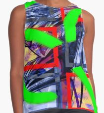 Collage with Mylar effect Contrast Tank