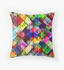 Vibrant Textured Background Throw Pillow