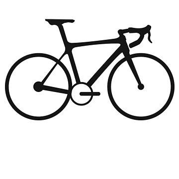 Bicycle, Racing Bike, Road Bike, Racing bicycle, Black on White by TOMSREDBUBBLE