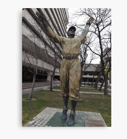 Jackie Robinson Statue, Journal Square, Jersey City Canvas Print