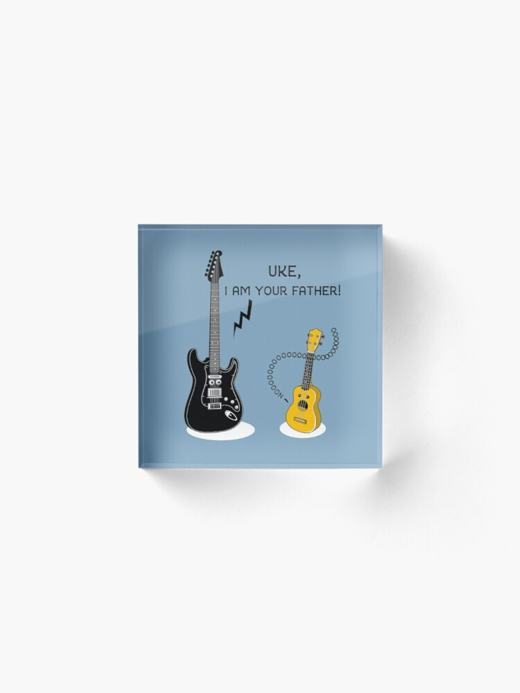 Alternate view of Uke, I am your Father! Acrylic Block
