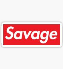 Supreme savage line Sticker