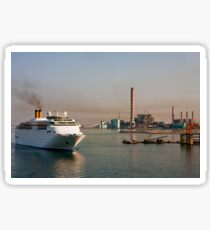 Cruise Ship Into Industrial Area Sticker