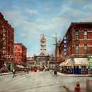 City - Denver Colorado - Welcome to Denver 1908 by Mike  Savad