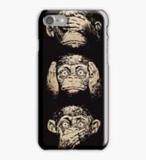 Three Wise Monkeys iPhone Case/Skin