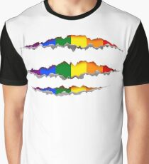 Rainbow claw scratches T-shirt Graphic T-Shirt