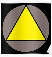 Yellow Triangle Poster