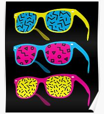 Retro Hipster 80's 1980s Glasses: Costume & Casual Poster