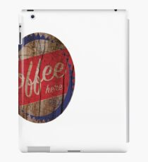 coffee sign 50s vintage iPad Case/Skin