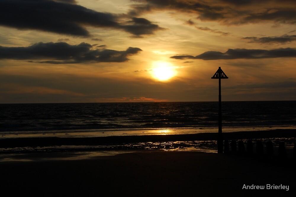 Autumn Beach Sunset - Borth by Andrew Brierley