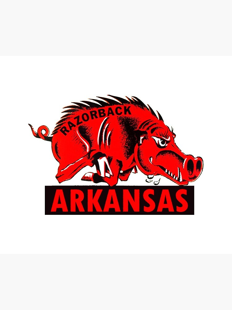 Arkansas Razorback Vintage Travel Decal by hilda74
