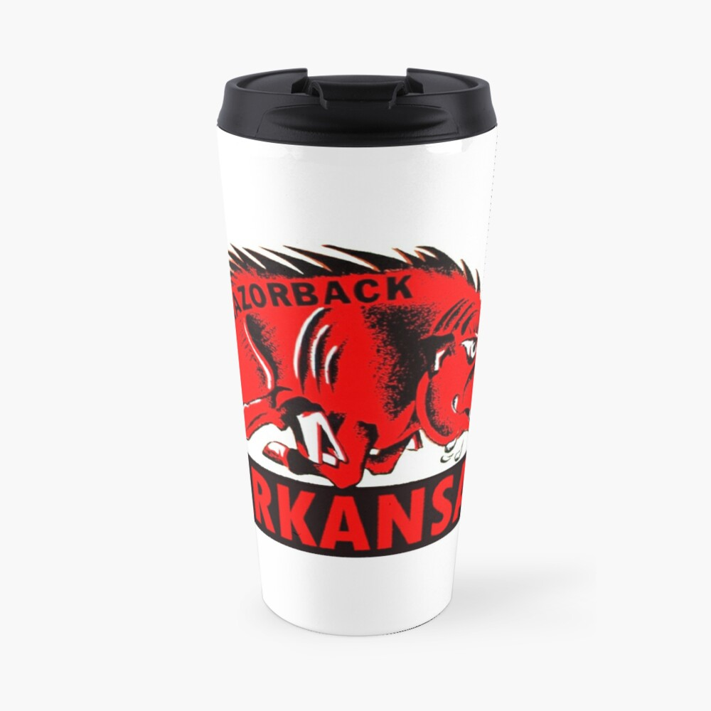Arkansas Razorback Vintage Travel Decal Travel Mug