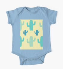 Green Cactus with Yellow Background One Piece - Short Sleeve