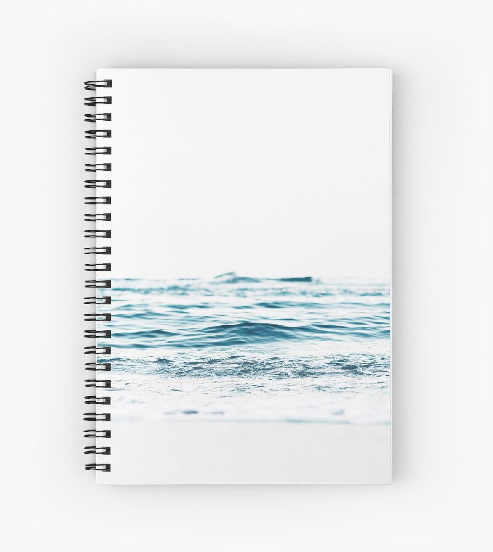 Cuadernos de espiral «Paisaje, Agua azul, Impresión escandinava ...