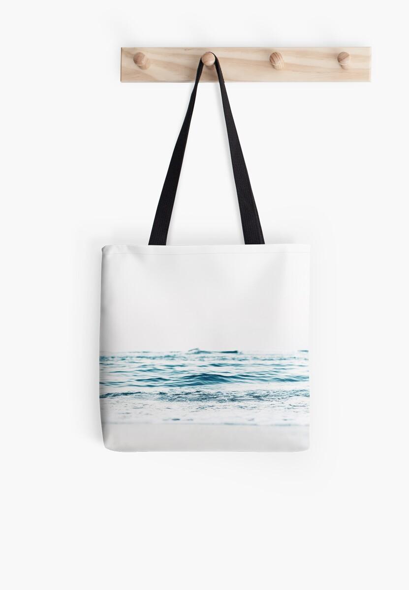 Bolsas de tela «Paisaje, Agua azul, Impresión escandinava, Nórdico ...