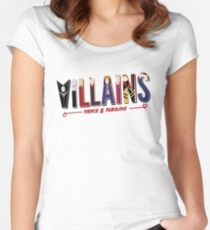 Schurken Tailliertes Rundhals-Shirt