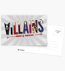 Villains Postcards