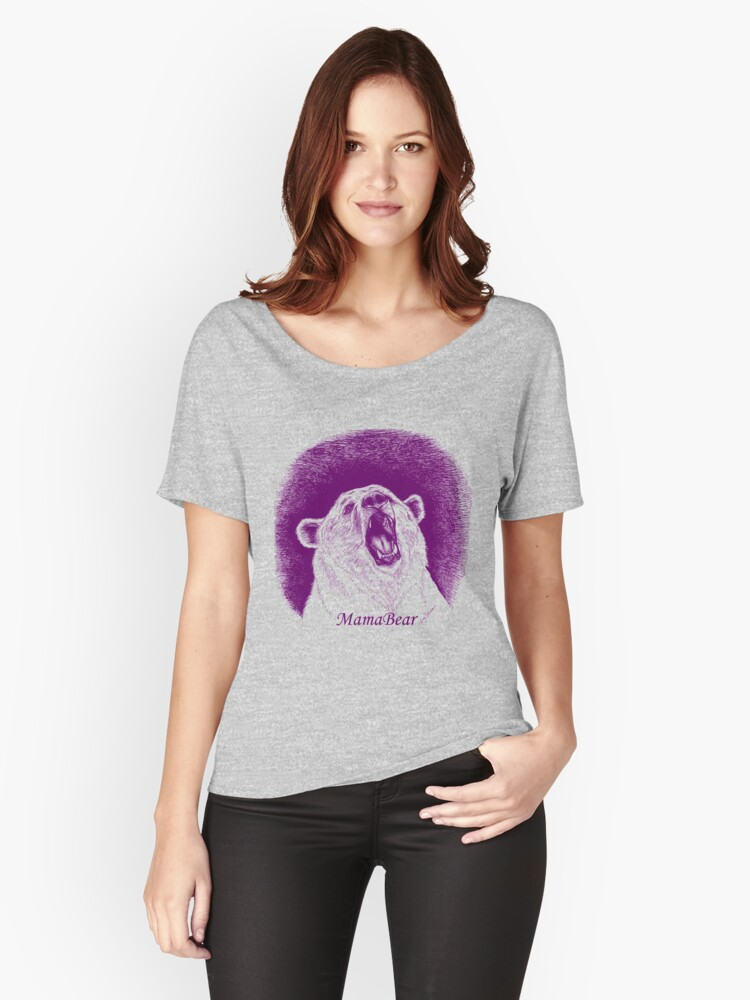 """Mama Bear in Purple"" Women's Relaxed Fit T-Shirt by ..."