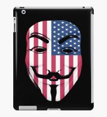 Guy Fawkes American Flag iPad Case/Skin