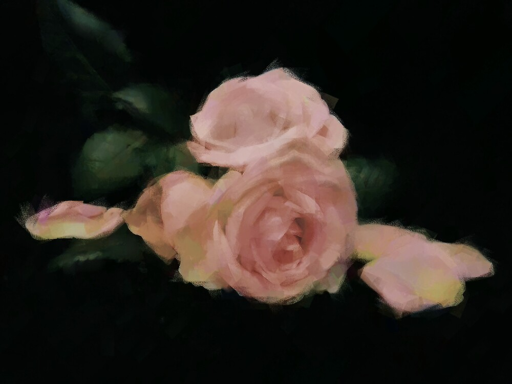 Painted Roses by mmrich
