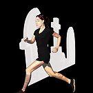 run like a goth by IanByfordArt