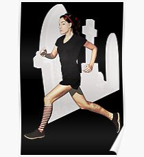 run like a goth Poster