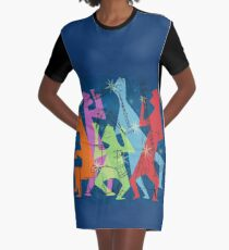 New Orleans Jazz Quintet Graphic T-Shirt Dress