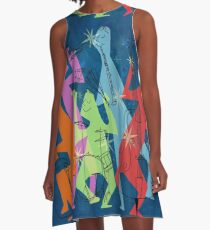 New Orleans Jazz Quintet A-Line Dress