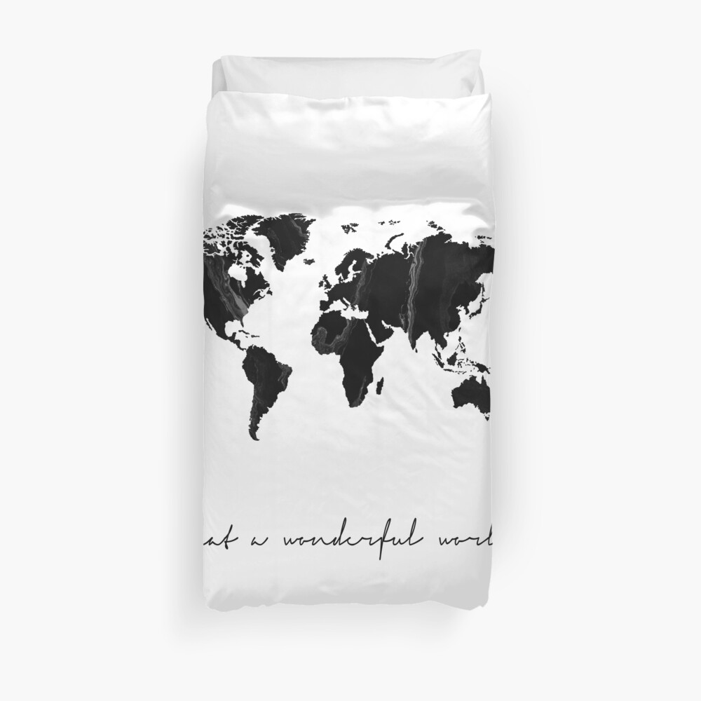 World map print, Scandinavian, Nordic, Marble, Fashion print, Scandinavian art, Modern art, Wall art, Print, Minimalistic, Modern Duvet Cover