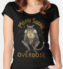 Moon sugar overdose Women's Fitted Scoop T-Shirt