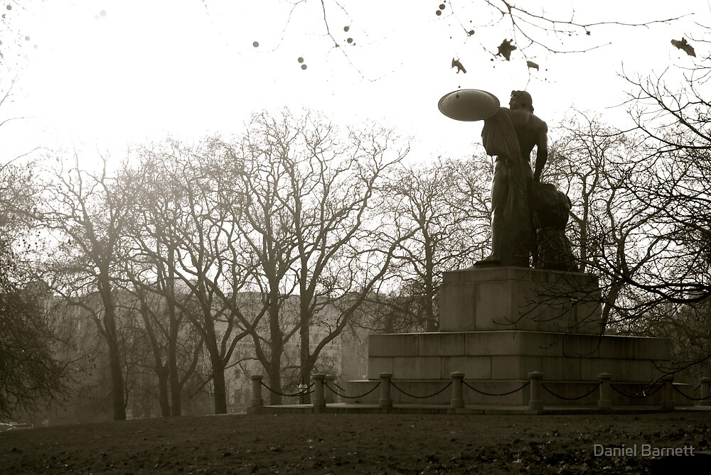 Achilles watches over Hyde Park by Daniel Barnett
