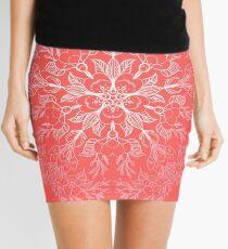 cherry blossom mandala- Coral sakura Mini Skirt