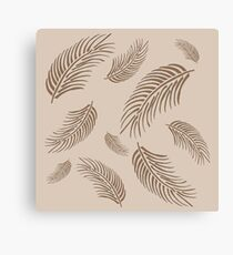 tan palm fronds  Canvas Print