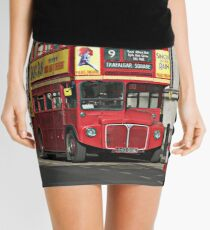 Vintage Red London Bus Mini Skirt