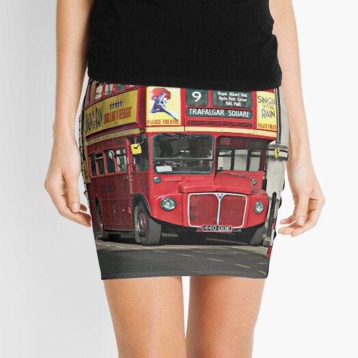 Vintage Red London Bus Mini Skirt