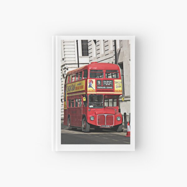Vintage Red London Bus Hardcover Journal