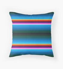 Mexican poncho pattern Throw Pillow