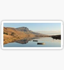 The Storr reflecting in Loch Fada - Panorama Sticker