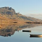 The Storr reflecting in Loch Fada - Panorama by Maria Gaellman